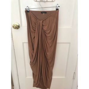 Dresses & Skirts - Suede taupe high low skirt